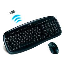 Teclado Multimedia Y Mouse Genius Kb-8000x Inalambrico