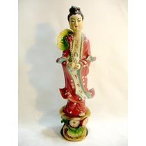 Escultura Original Porcelana Chinesa Antiga Mão Móvel Déc 40