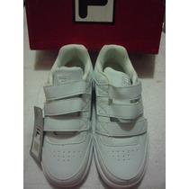 Zapato Deportivo Fila Escolar Blanco # 33