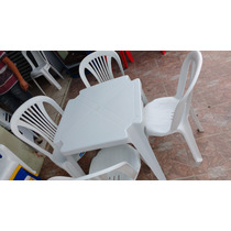 Conjunto De Mesas E Cadeiras De Plástico Inje4 120kg