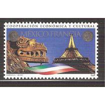 1998 México Francia Motivos Prehispanicos Torre Eiffel Mnh