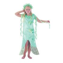 Disfraz De Sirena Azul Para Niñas Talla Medium