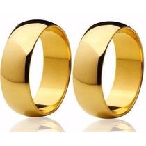 Alianças De Ouro 18k 20 Gramas 10mm Anatômicas Casamento
