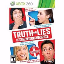 Xbox 360 Jogo Truth Or Lies Lacrado 100% Original