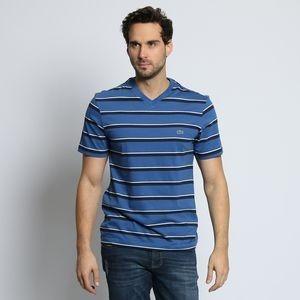 Camiseta Lacoste Azul Listrada - R  129,00 em Mercado Livre a2a33ba226