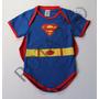 Body Infantil Super Homem Com Capa Super Herois