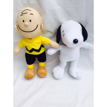 Boneco Snoopy De Pelúcia E Charlie Brown Kit C 2