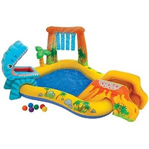 Intex Dinosaurio Inflable Play Center 98 X 75 X 43 De Eda