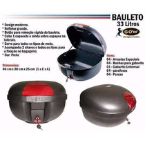 Bauleto Baú Gow 33 Litros P/ Motos C/ Refletor.
