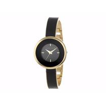 Reloj Anne Klein Mod. Ak1232bkgb Negro Con Dorado Para Dama