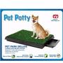 Baño Ecológico Y Portátil Para Perros Medianos, Con Bandeja