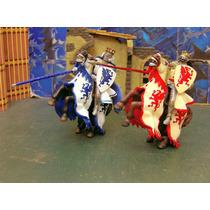 Reyes Medieval C Montura Lote 4 Figuras Papo 1/22 Lee Anun