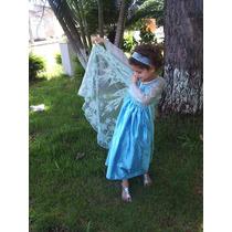 Fantasia Princesa Elsa Frozen Pronta Entrega Tamanho 6 Anos