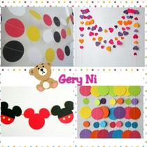 Guirnaldas Para Fiestas Infantules Decoración Candybar