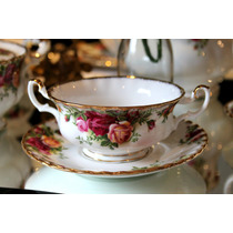 Linda Terrina Sopa Inglesa Royal Albert Country Roses !