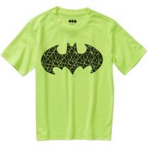 Dc Comics Batman Logo Escudo Niños Poli Camiseta Gráfica