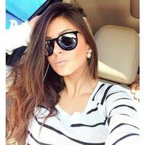 Óculos De Sol Feminino Veludo, Espelhado, Aveludado, Vintag