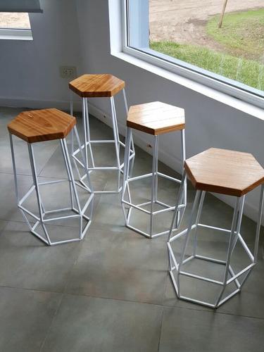 Taburete Hexagonal Diseño 902   Barra Cocina   - Simplestuff ...