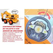 Trator Escavadeira Power 678 Controle Remoto Damadores