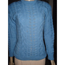 Malha De Lã Com Tranças Em Trico Feito À Mao Tam M