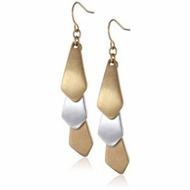 Kenneth Cole New York Aretes Color Dorado Con Plateado