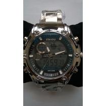 Relógio Importado Aço Prova Dágua,luz,cronômetro,barato