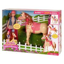 Barbie Y Su Caballo Salta Y Monta Nuevo Oferta