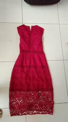 cc5d8b2d9 Vestido Fiesta Zara Talla 28 Rojo 3 4 Formal -   700.00 en Mercado Libre