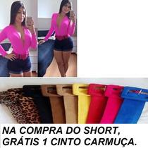 Short Jeans Cintura Alta, Hot Pants, Super Oferta,