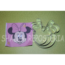 *kit 3 Cortadores Galleta Minnie Mouse Mimi Royal Fondant*