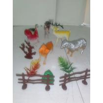 Set De Animales Plastico 6pcs Con Accesorios