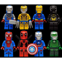 Set A1 Armaduras Iron Man Marvel Dc Compatible Con Lego
