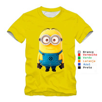Camiseta Personalizada Dos Minions Blusa Amarela