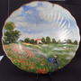 Raro Prato Pintura De Monet Porcelana Limoges França