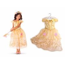 Vestido Fantasia Festa Luxo Princesa Bela Fera