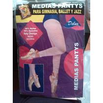 Medias Pantys De Niña Para Ballet Gimnasia Disfraz