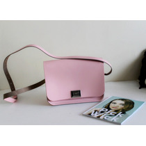Cartera 100% Cuero The Leather Satchel Company Rosa Candy