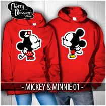 Par De Sudaderas Novios Parejas Enamorados Mickey Minnie 01