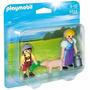 Playmobil 5514 Blister Campesino Y Niño Granja Retromex!!