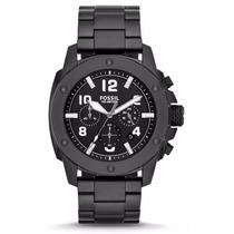 Reloj Fossil Fs4927 Acero Inoxidable Negro Nuevo En Caja