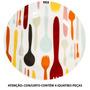 Conjunto 4 Pratos Para Sobremesa Cutlery Colors Em Porcelana