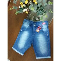 Bermuda Moleton Jeans Juvenil Menino 5051