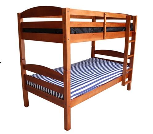 Literas juveniles madera de pino camas individuales for Literas juveniles precios