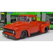 1:24 Ford F100 Pick Up 1956 Rojo Jada Toys Pick Up Display