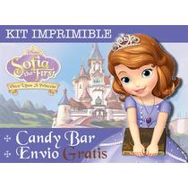 Kit Imprimible Princesa Sofia - Promo 3x1 Candy Bar
