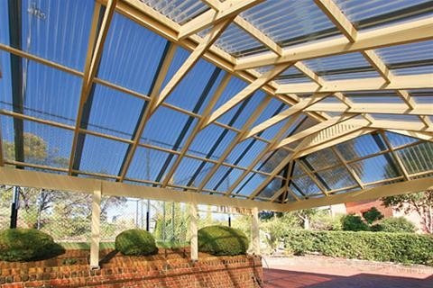Chapa de policarbonato ondulado transparente 180 00 en for Modelos de techos de chapa