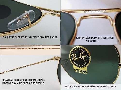 db3dfb3689922 Oculos Ray Ban Top Aviador Original Rb3025 Rb3026 Promocao - R  322 ...