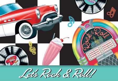 Tarjetas De Invitacion Cumpleanos Rock And Roll Bs 0 01 En