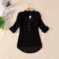Camisa Blusa Feminina Chiffon Seda Importada Pronta Entrega
