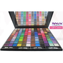 Kit Maquiagem Completo Macrilan 120 Cores 3d, Paleta Sombras